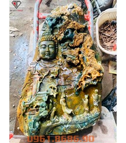 Tượng Nhất Tâm Bái Phật Đá Mã Não