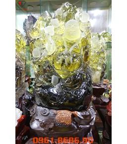 Tượng Phật Di Lặc Thạch Anh Vàng