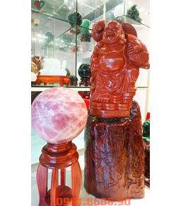 Tượng Phật Di Lặc Bằng Đá Jasper Đỏ