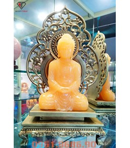 Tượng Phật A Di Đà Bằng Đá Ngọc Hoàng Long